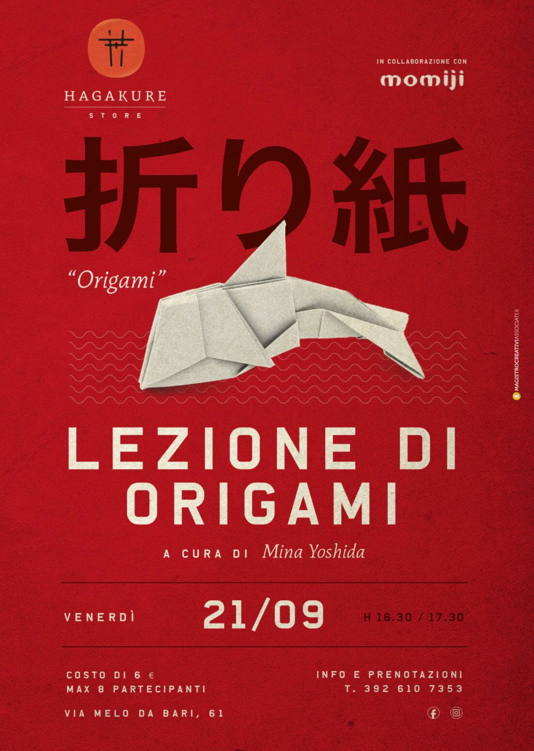 hagakure sushi fusion SAVE THE DATE - LEZIONE DI ORIGAMI