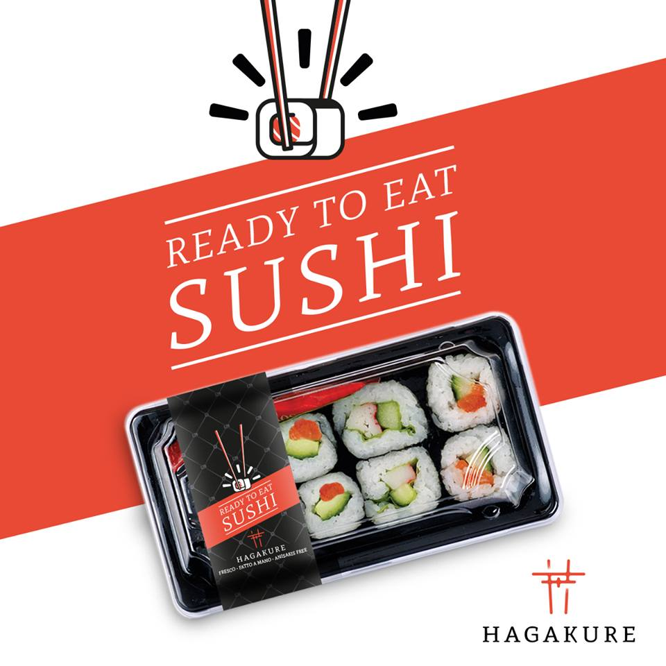 READY TO EAT SUSHI <br> @HAGAKURE STORE