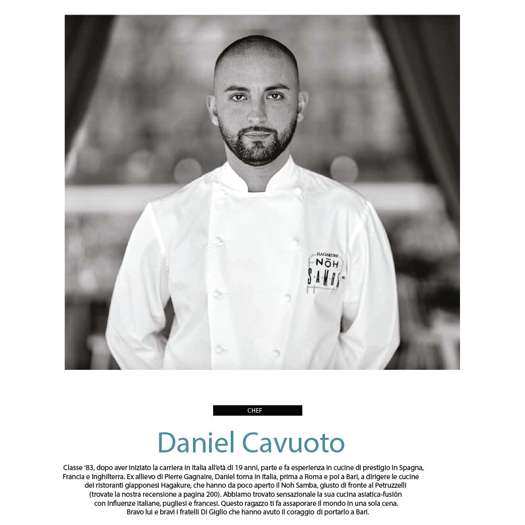 Daniel Cavuoto CHEF DELL'ANNO per Amazing Puglia