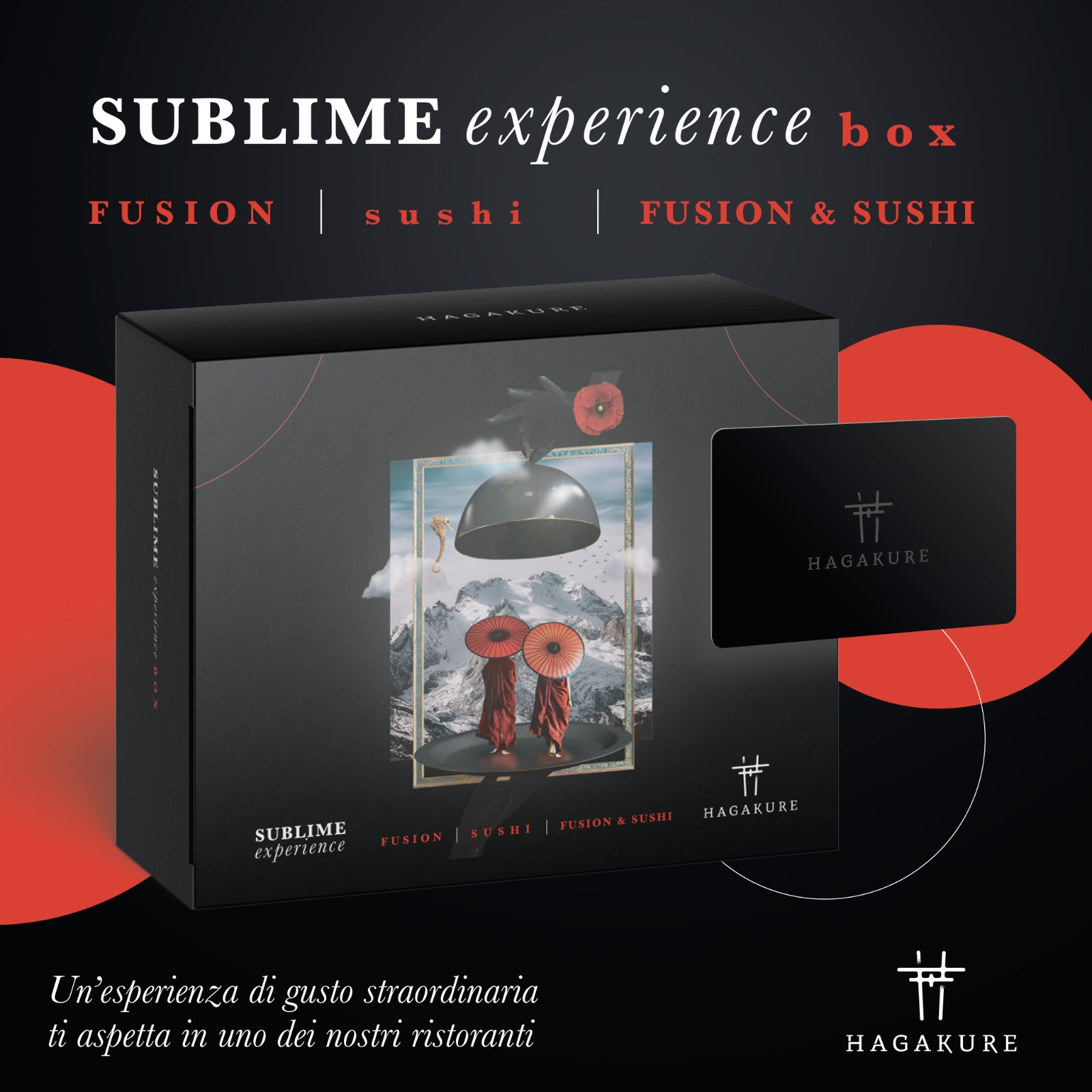 hagakure sushi fusion HAGAKURE SUBLIME EXPERIENCE - GIFT BOX