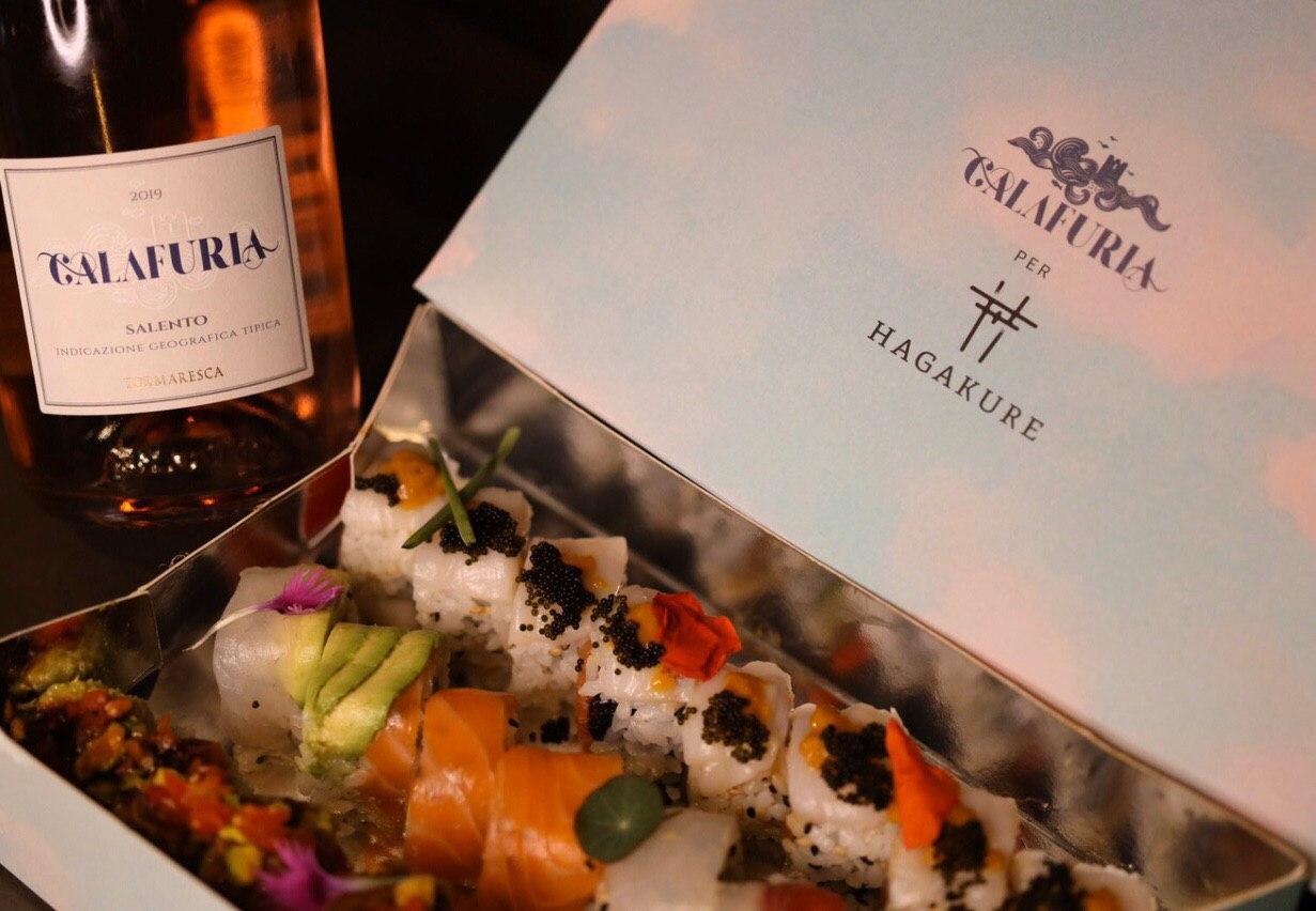 hagakure sushi fusion HAGAKURE SUSHI BOX signed CALAFURIA TORMARESCA