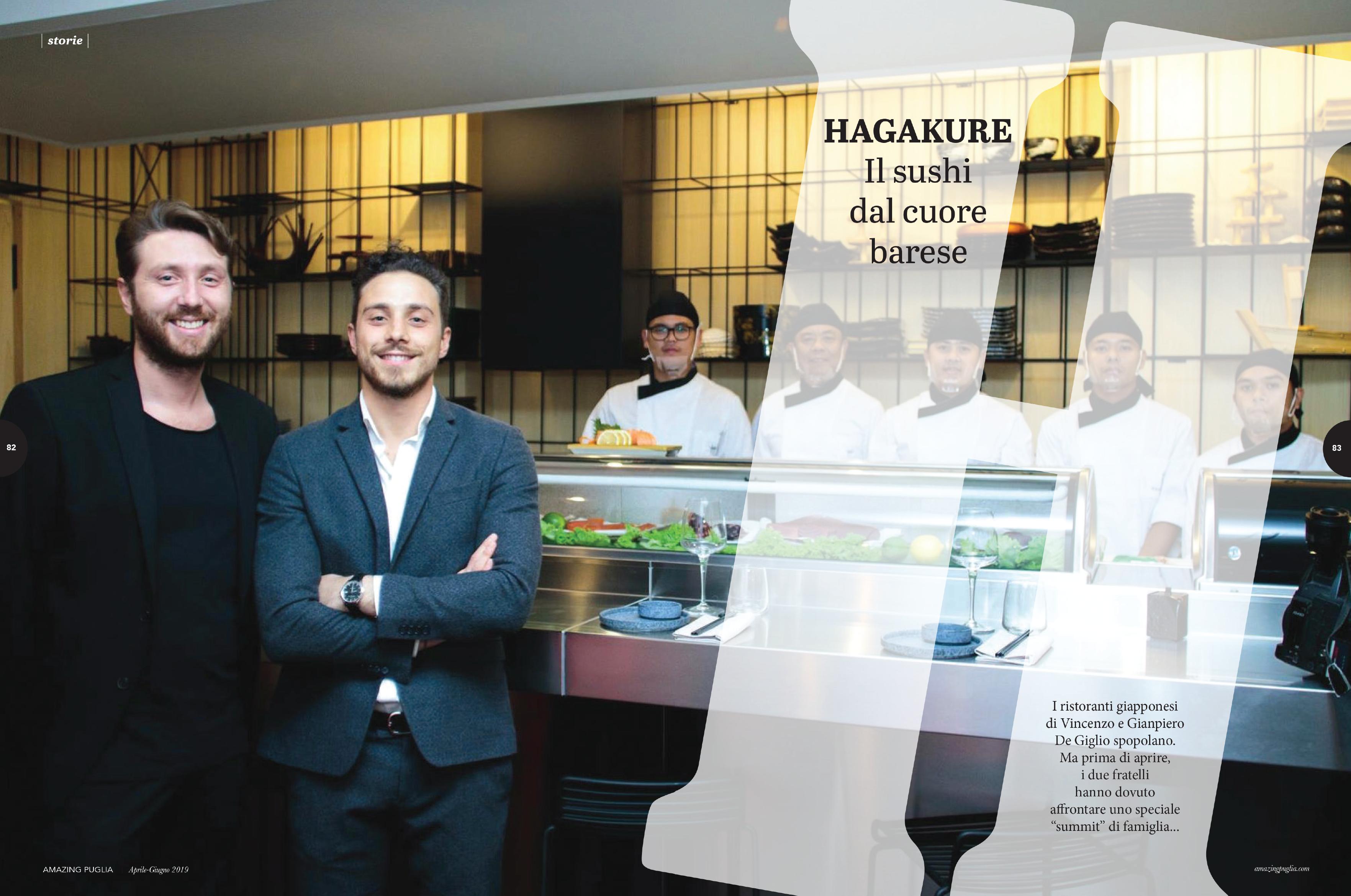 hagakure sushi fusion La storia di Hagakure sul magazine Amazing Puglia