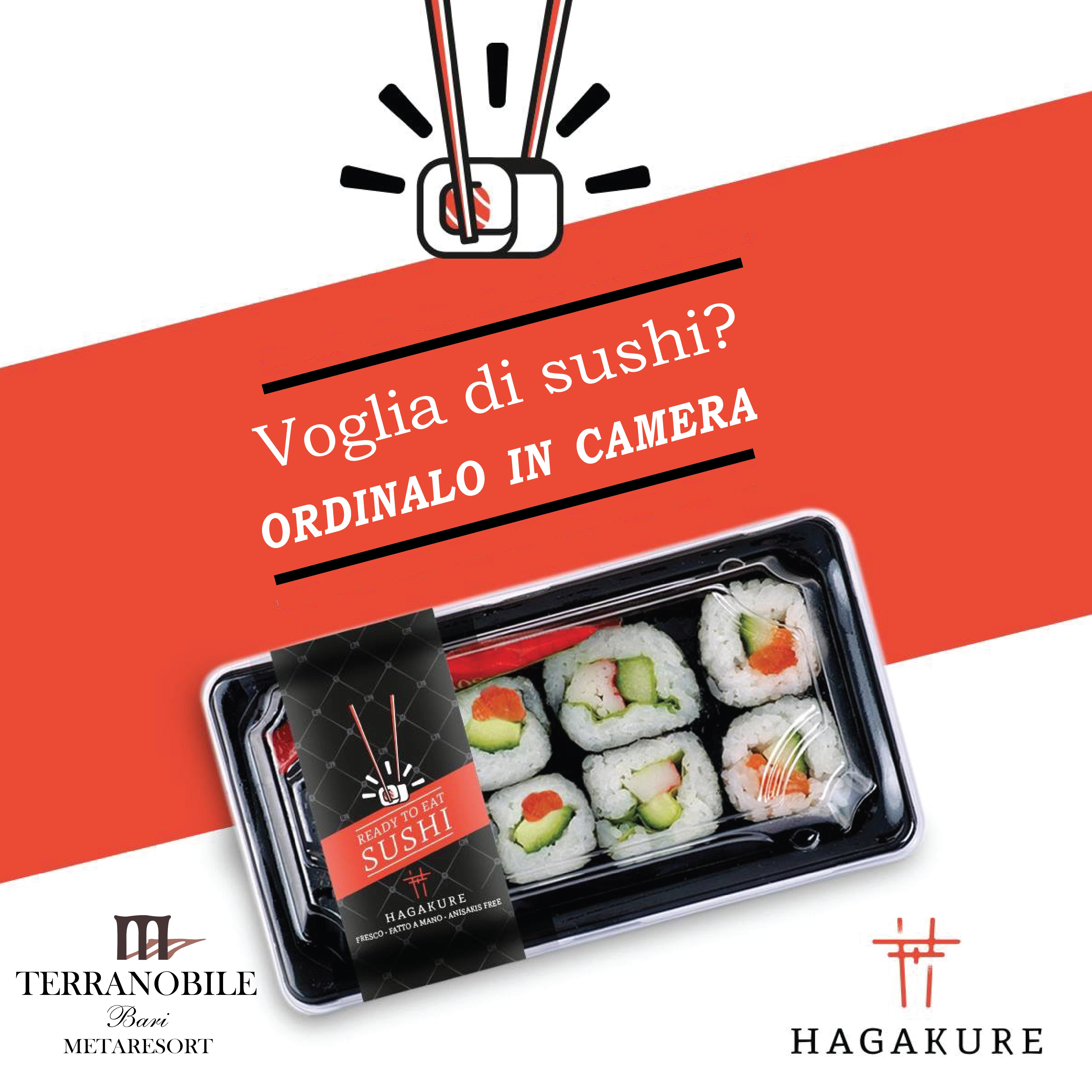 hagakure sushi fusion Voglia di Sushi? Ordinalo comodamente in camera!